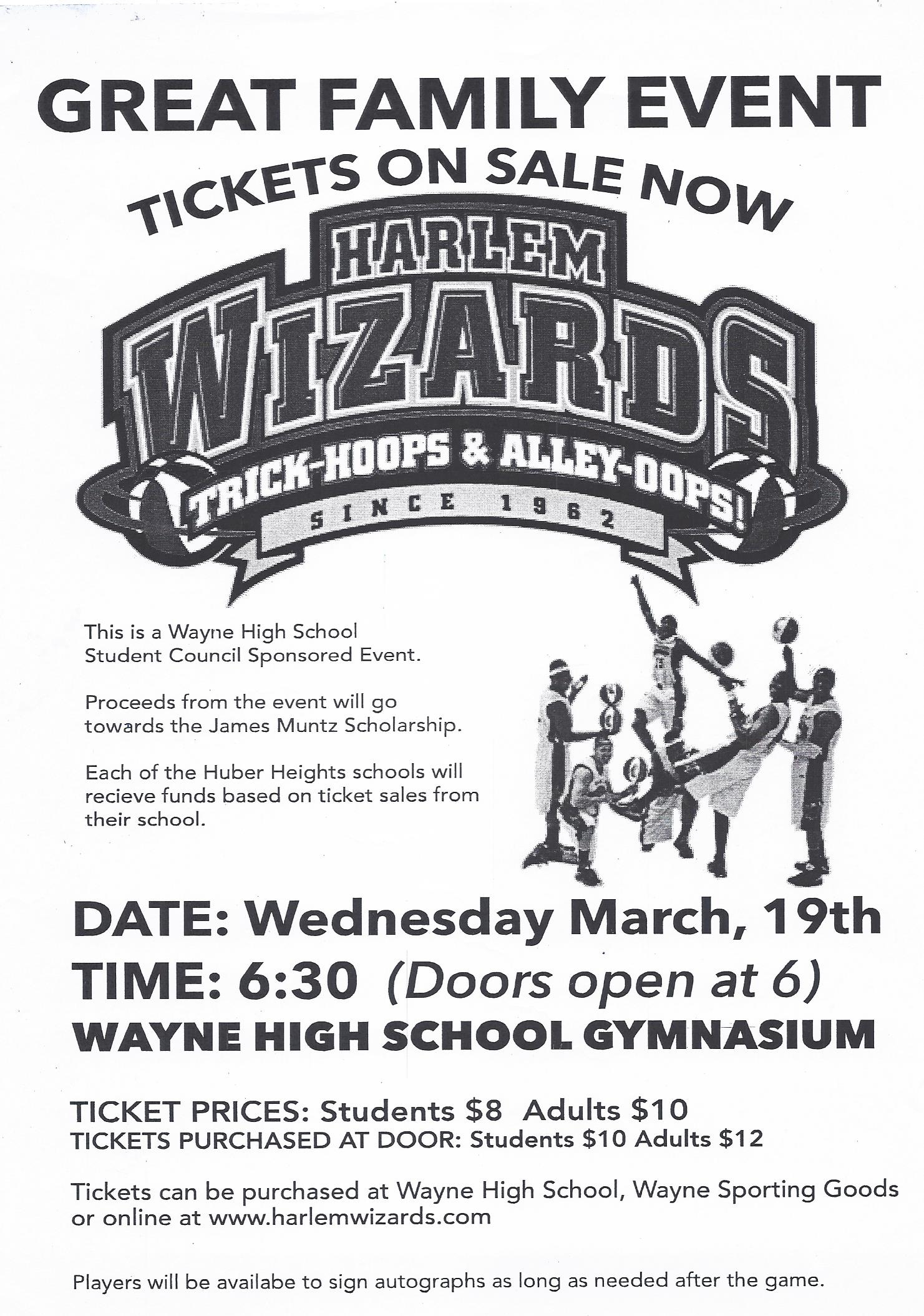 Harlem Wizzards vs Huber Heights City Schools