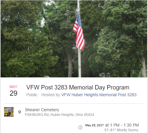 VFW Memorial Day Cereomy