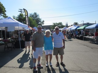Mom Dad and I at the Hamburg Farmers Market