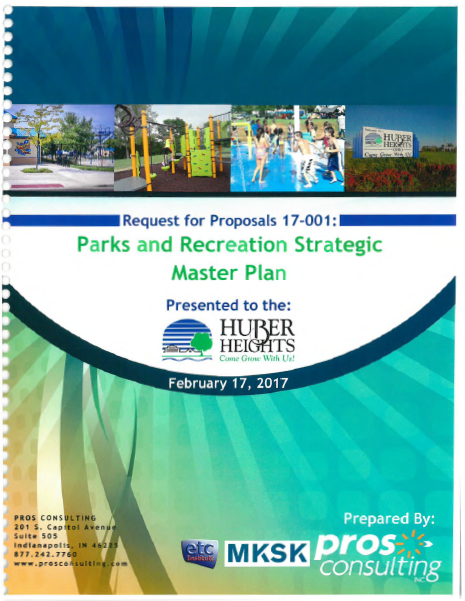 Pro Consulting Bid for Huber Heights Parks and Recreation Master Plan