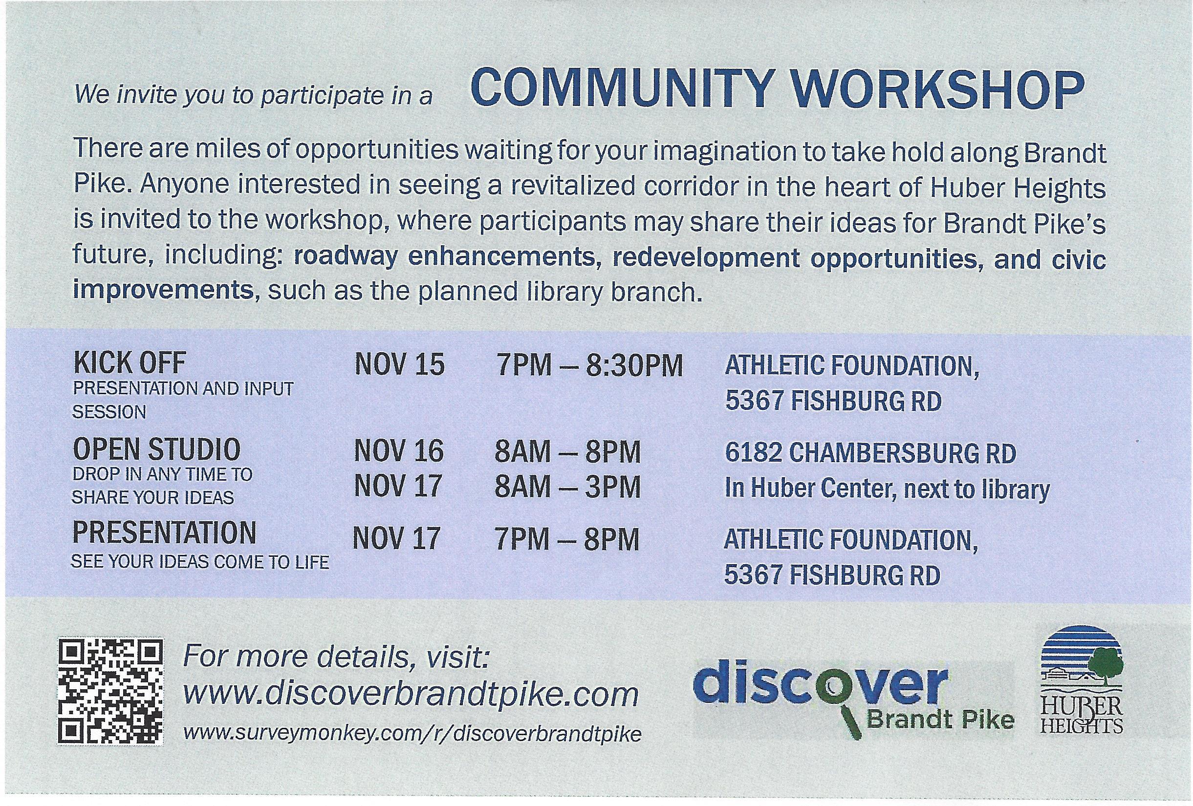 Brandt Pike Revitalization Community Workshop
