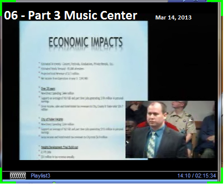 07 - Part 3 Music Center Mar 14, 2013 Economic Impact