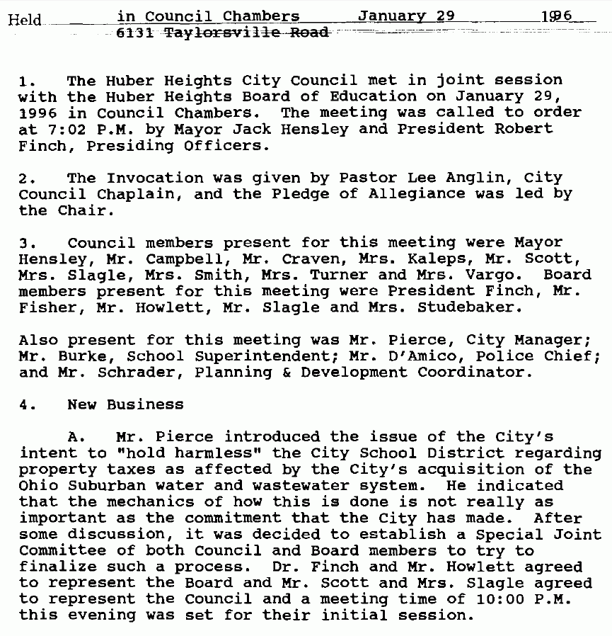 998 - City Council Minutes Jan 1996 – Snipet for posting.PNG