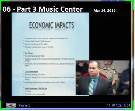 07 - Part 3 Music Center Mar 14, 2013 Economic Impact